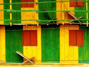 Mur peint à Ganvié (Bénin)